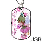 Pink Fairy USB Dog Tag Flash (Two Sides) - Dog Tag USB Flash (Two Sides)