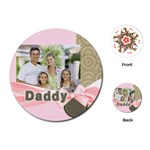 fathers day - Playing Cards Single Design (Round)