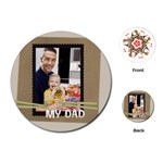 fathers day - Playing Cards (Round)