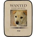 wanted - Double Sided Fleece Blanket (Mini)