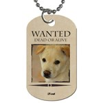 wanted - Dog Tag (Two Sides)