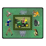 Zoo Blanket, double layer(small) - Double Sided Fleece Blanket (Small)