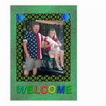 Welcome flag, large - Large Garden Flag (Two Sides)