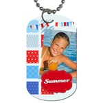 summer - Dog Tag (One Side)