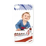 july 4 usa - iPhone 4 Case (White)
