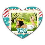 usa - Heart Mousepad