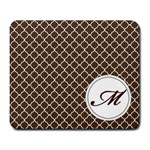 Mousepad_Quatrefoil - Monogram9 - Large Mousepad