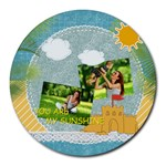 summer - Collage Round Mousepad