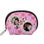 Pink Hearts and Butterflies Small Accessory Pouch - Accessory Pouch (Small)