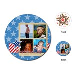 usa - Playing Cards Single Design (Round)