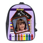Back to School Pencil X-Large School Bag - School Bag (XL)