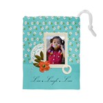 Drawstring Pouch: (L) Live Laugh Love - Drawstring Pouch (Large)