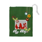 Drawstring Pouch: (L) Happy Holidays - Drawstring Pouch (Large)