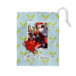 Drawstring Pouch (L): Christmas 3 - Drawstring Pouch (Large)