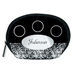 Classic Black and White Accessory Pouch (Medium)
