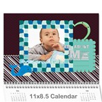 kids, child - Wall Calendar 11  x 8.5  (12-Months)