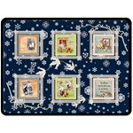 Frosty Winter Lights Double Sided Large Fleece - Double Sided Fleece Blanket (Large)