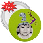3  button 10 pack - 3  Button (10 pack)