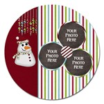 Christmas Dazzle Magnet - Magnet 5  (Round)