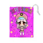 super sonico drawstring L pink - Drawstring Pouch (Large)