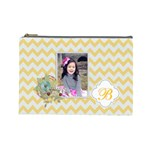 Cosmetic Bag (L): Yellow Chevron - Cosmetic Bag (Large)