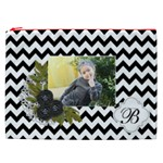 Cosmetic Bag (XXL): Black Chevron