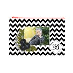 Cosmetic Bag (L): Black Chevron - Cosmetic Bag (Large)
