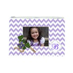 Cosmetic Bag (L): Violet Chevron - Cosmetic Bag (Large)