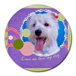 pet - Collage Round Mousepad