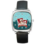 xmas, Christmas gift  - Square Metal Watch