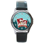 xmas - Round Metal Watch