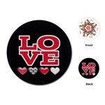 Love Cards - Playing Cards Single Design (Round)