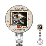 I Love My Chihuahua Stainless Steel Nurses Watch