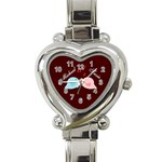 Love Birds Heart watch - Heart Italian Charm Watch