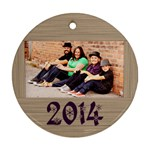 sauve2014 - Round Ornament (Two Sides)