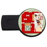 xmas - USB Flash Drive Round (2 GB)