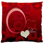 Red Love Standard Flano cusion case - Standard Flano Cushion Case (One Side)