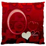 I Heart You Red large flano cusion case - Large Flano Cushion Case (One Side)