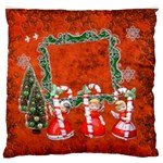 Christmas3 large flano cusion case - Large Flano Cushion Case (One Side)