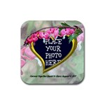 Bleeding Heart Rubber Coaster Square - Rubber Coaster (Square)