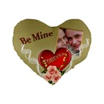 Be Mine Standard Heart Cushion - Standard 16  Premium Flano Heart Shape Cushion