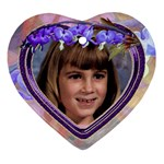 Purple Bleedingheart Ornament Heart - Ornament (Heart)