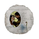 Our Love Standard Flano Round Cushion - Standard 15  Premium Flano Round Cushion