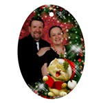 Our Family Sing Merry Christmas (2 sided) Ornament - Oval Ornament (Two Sides)