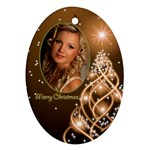 Mary Lou Christmas Oval Ornament 6 (2 sided) - Oval Ornament (Two Sides)