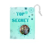 Frosty secret Drawstring Pouch (Large)