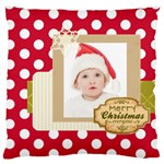 XMAS - Large Flano Cushion Case (One Side)