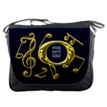 Golden Musical Notes Messenger Bag