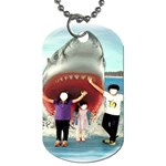 Shark ! - Dog Tag (Two Sides)