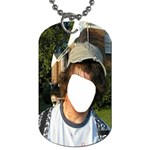 Pencil in Neck ! Zombie Series #2. - Dog Tag (Two Sides)